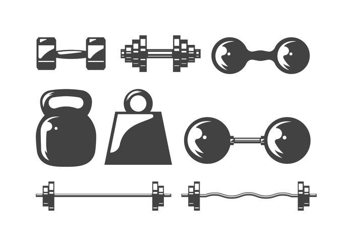 Dumbell ikoner vektor