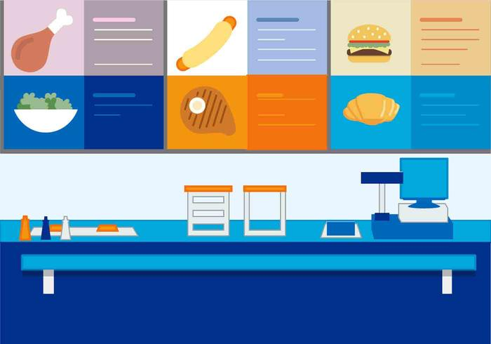 Free vector fast food stand