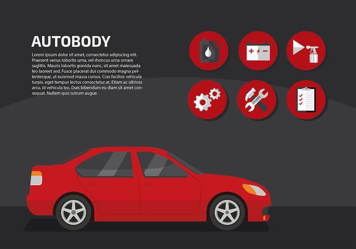 Auto Body service Gratis Vector