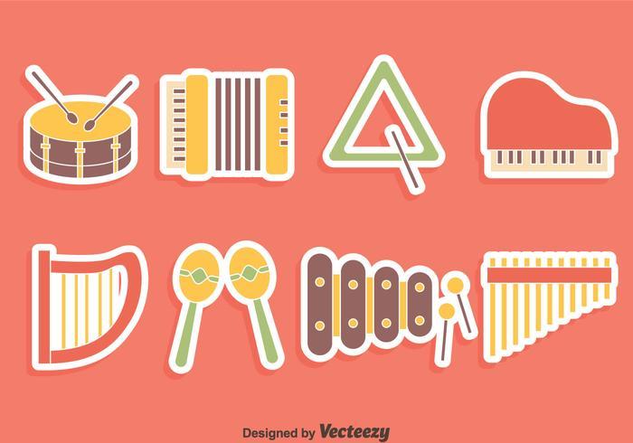 Trevlig musik Instrument Kollektion vektor