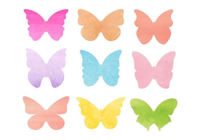 Fri vattenfärg fjärilar vektor