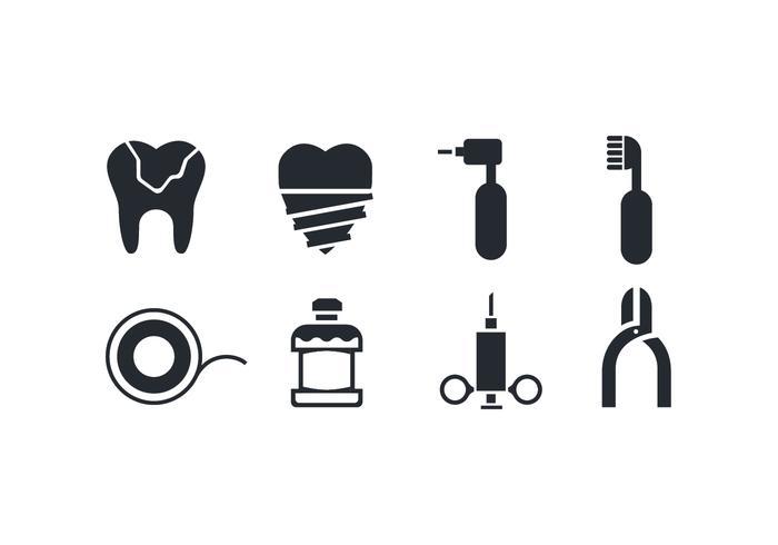 Tandvård Ikoner vektor