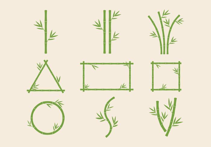 Fri bambu stjälkar Vektor