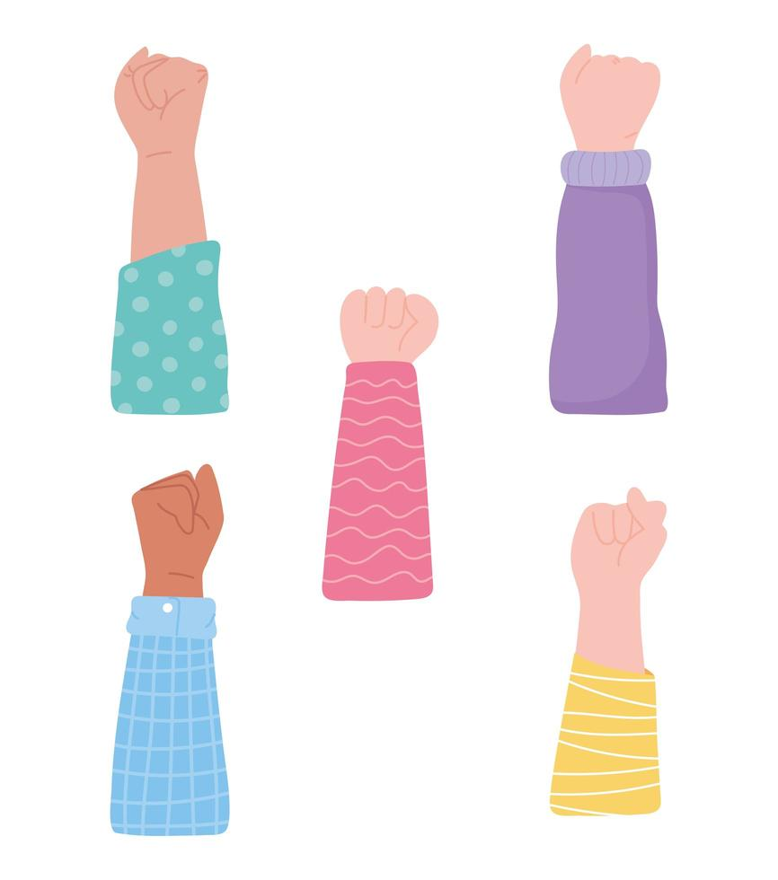 Hände protestieren vektor