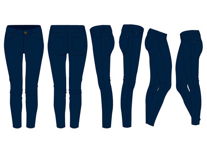 Mädchen Blue Jeans vektor
