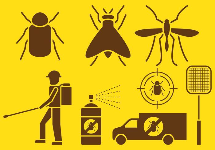 Pest Control Icons vektor