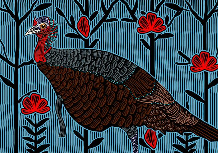Wild Turkey Weiblich vektor
