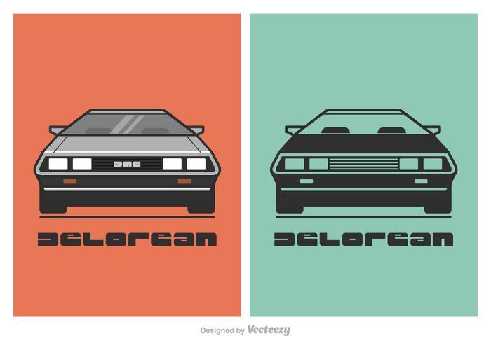 Free Vector DeLorean Auto Illustration