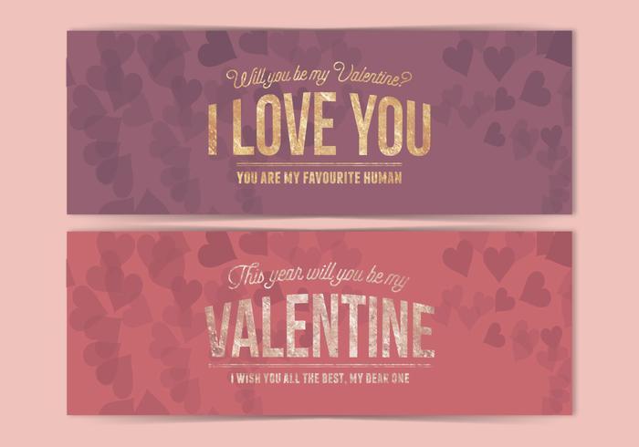 Vector Valentinstag Banner