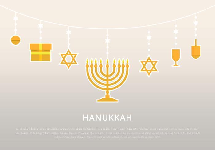 Hanukkah-Hintergrund-Schablone vektor