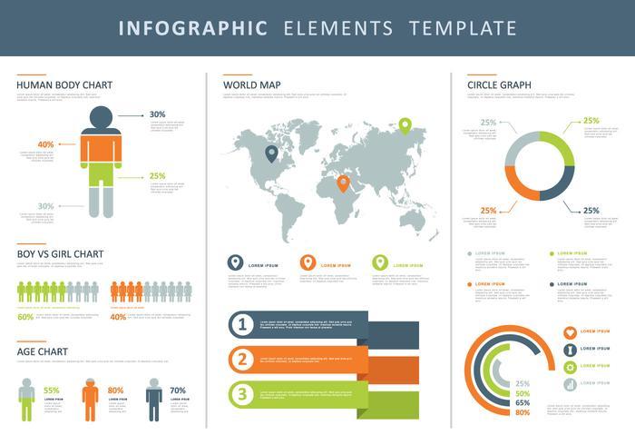 Bunte Infographic Elemente Illustration vektor