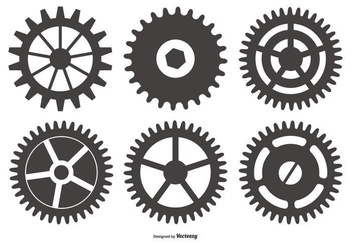 Zahn-Rad Vektorformen vektor