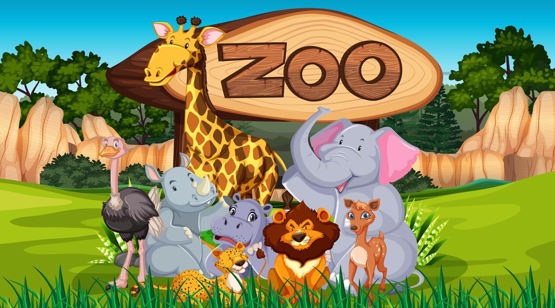 Zootiere in freier Wildbahn vektor