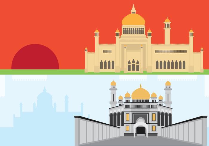 Brunei Historisk Showplace vektor