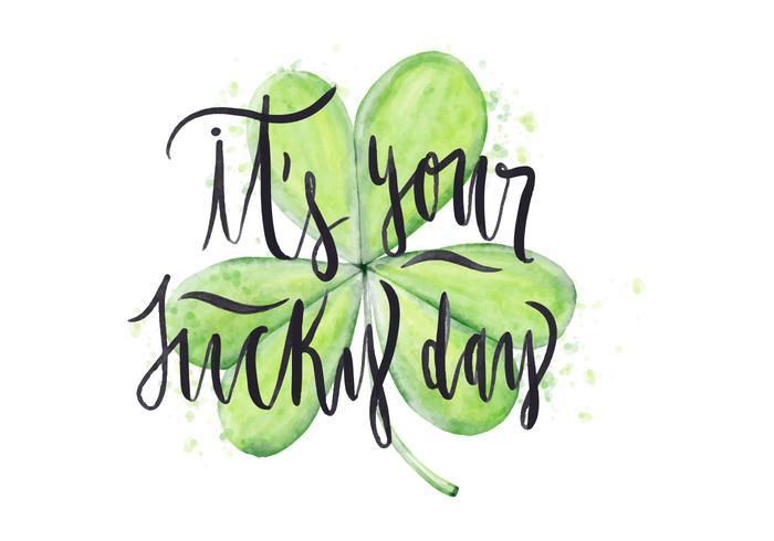 Saint Patricks Day vattenfärg illustration vektor
