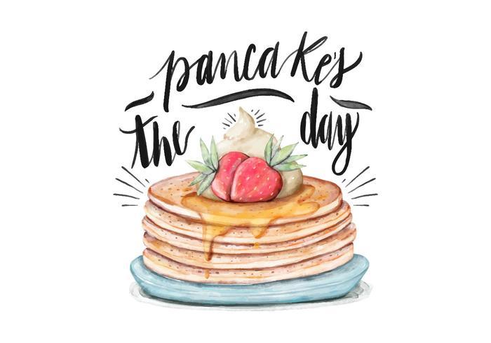 Pancake Day Illustration vektor
