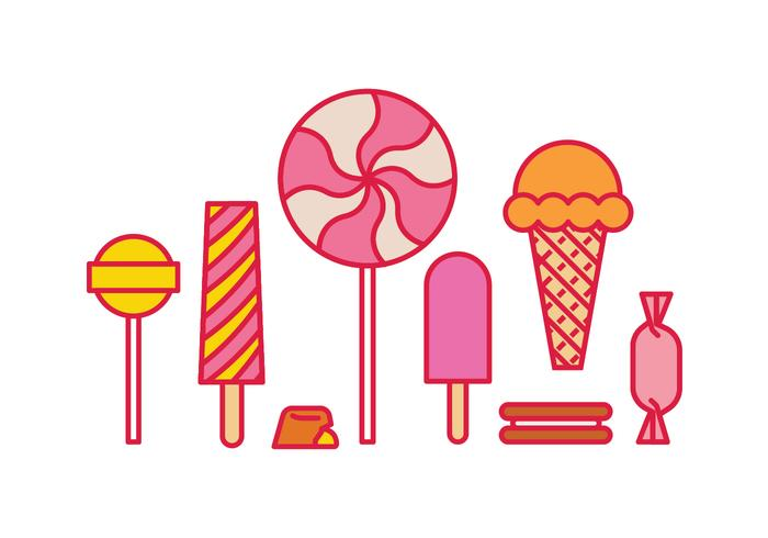 Süße Icons vektor