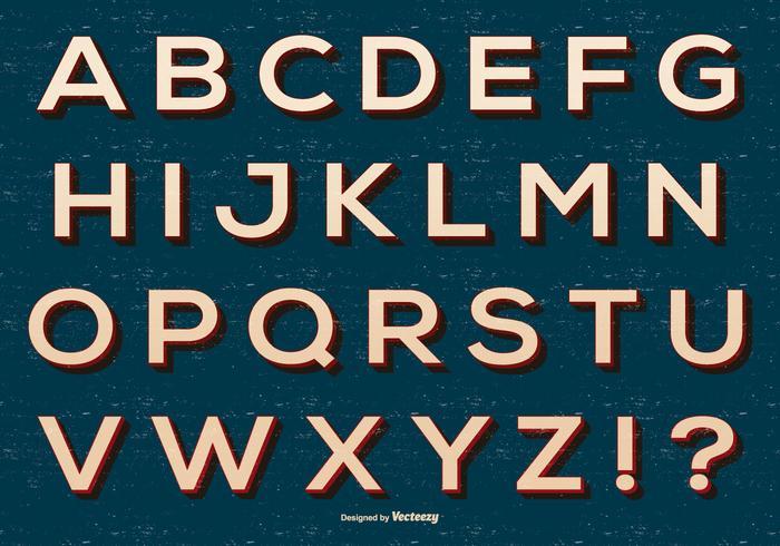 Retro Alphabet Sammlung vektor