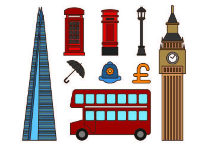 Set Von London Icons vektor