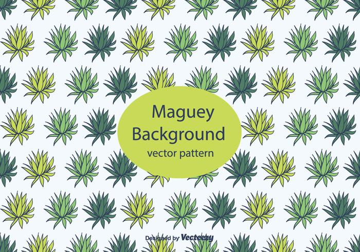 Hand Drawn Maguey Hintergrund vektor