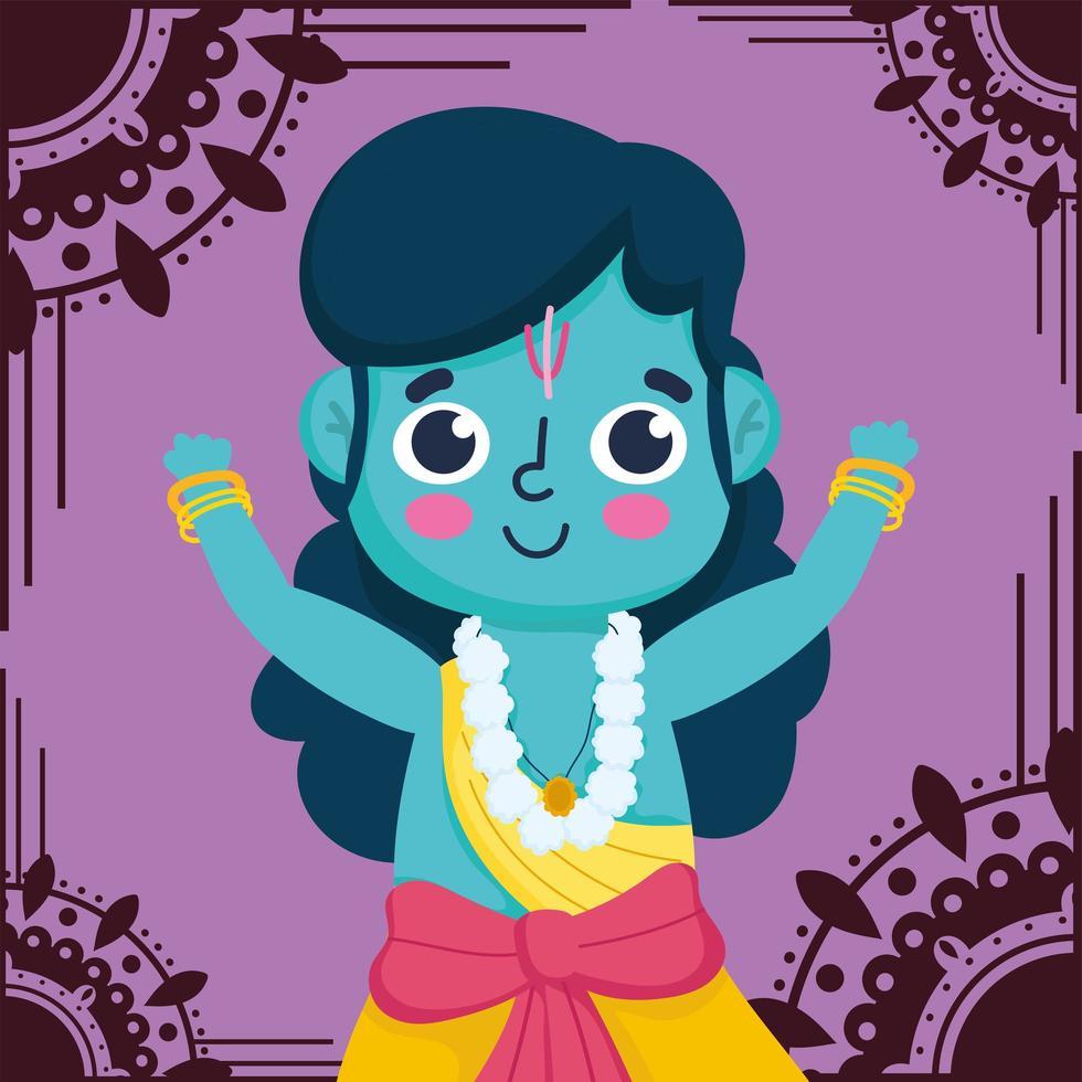 lycklig dussehra festival i Indien, lord rama traditionell händelse vektor