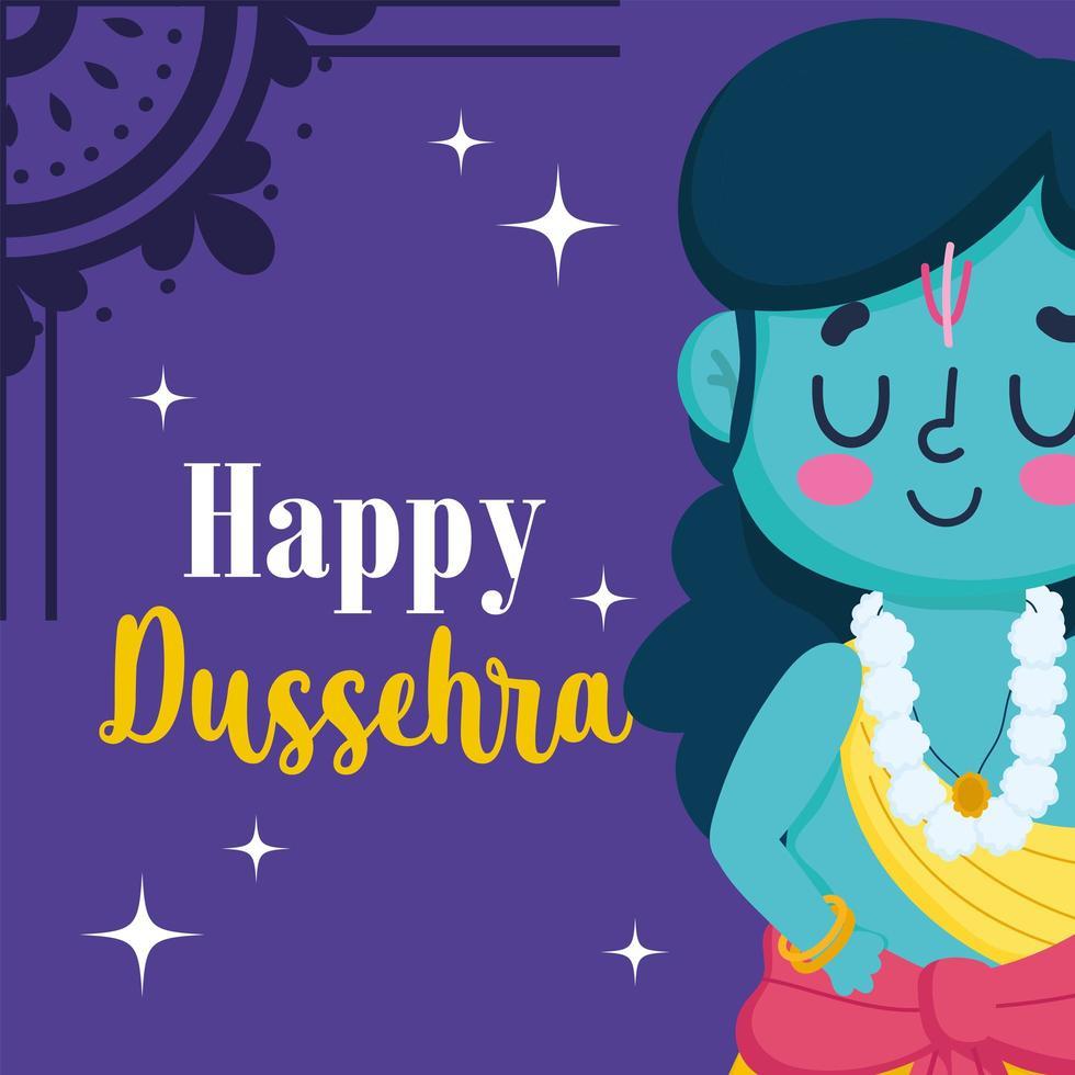 glücklicher Unabhängigkeitstag Indien Lord Rama Cartoon vektor