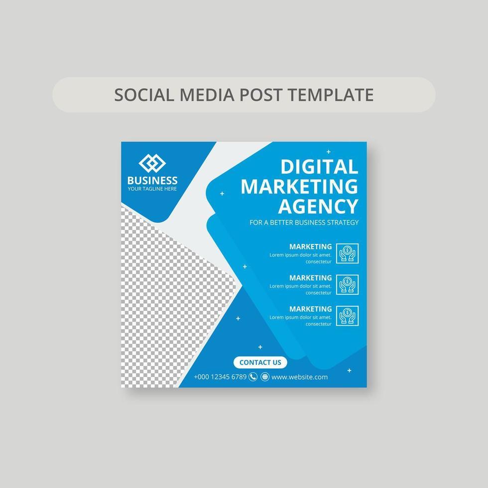 blå och vit användbarhet sociala medier post banner vektor