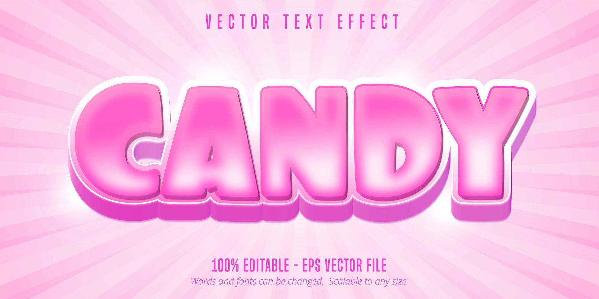 rosa godis texteffekt vektor
