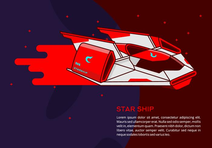 Starship Hintergrund vektor