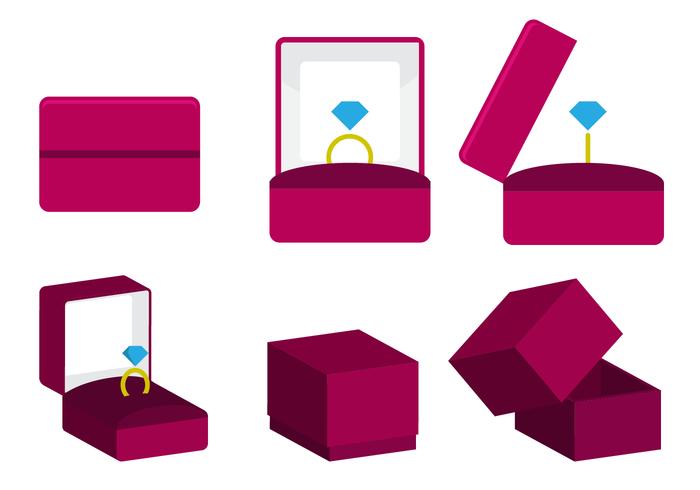 Freie Ring Box Vektor