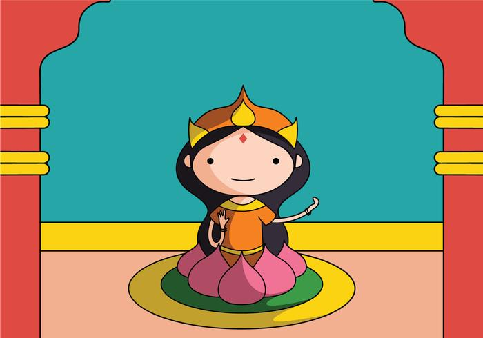 Hinduiska gudar Lakshmi vektor