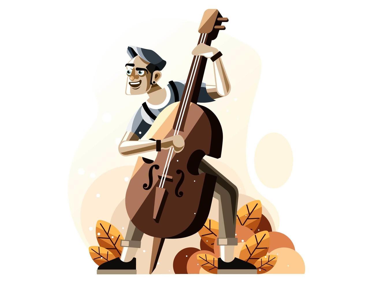 person som spelar fiol vektor