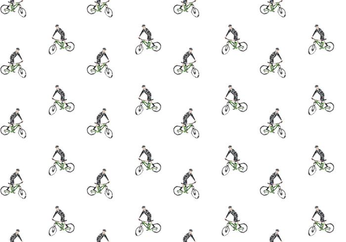 Freie Bicicleta Nahtlose Muster Vektor-Illustration vektor