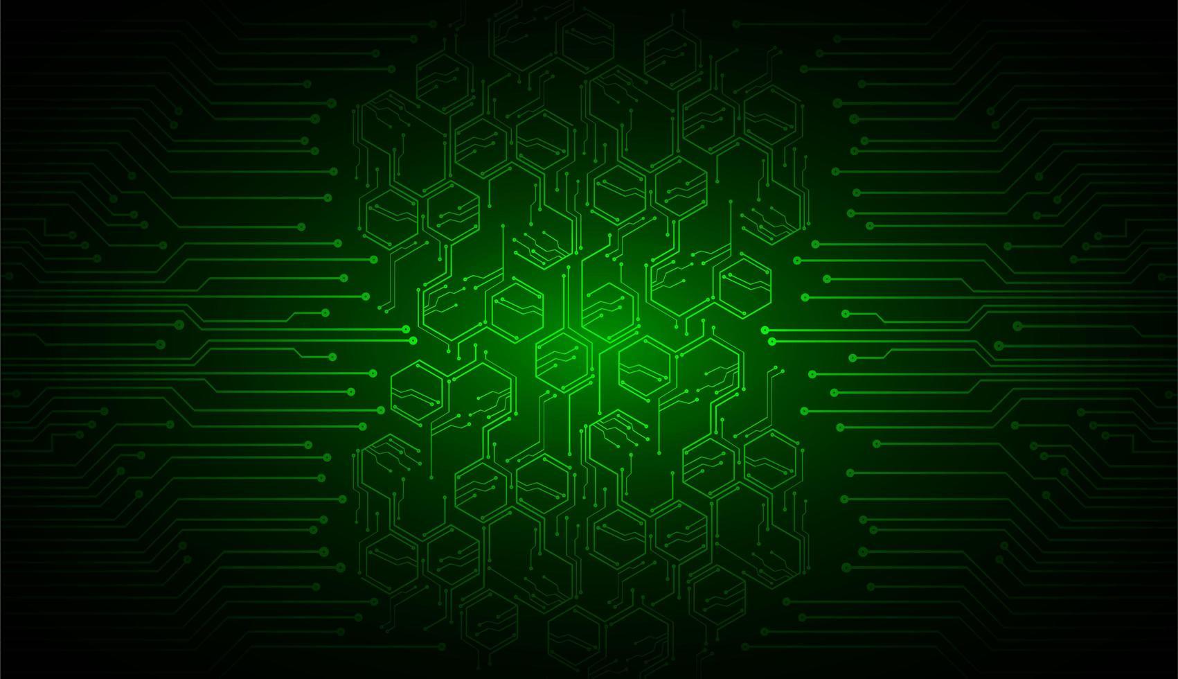 grönt cyberkrets framtida teknologikoncept vektor