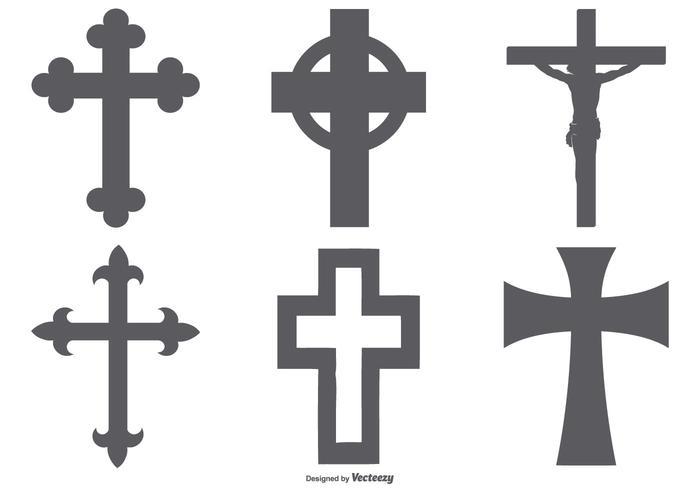 Kreuzformen Sammlung vektor