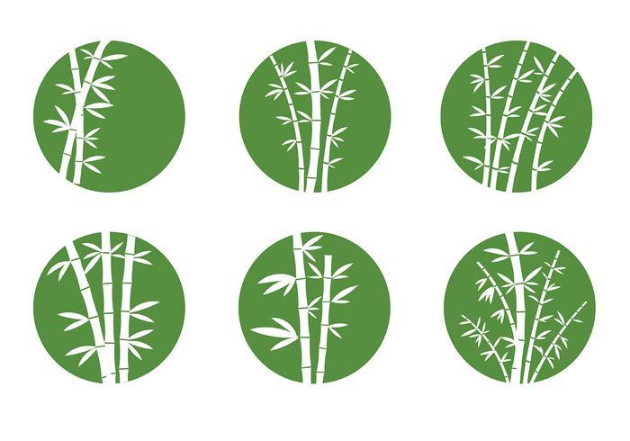 Fri Bamboo Ikoner Vektor