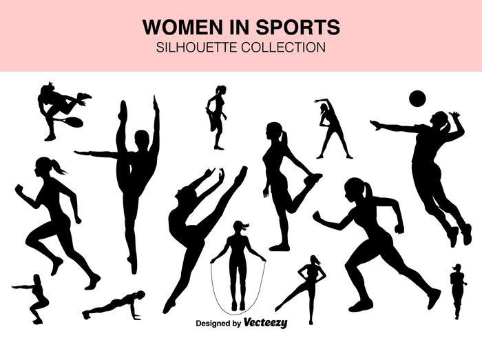 Vector Set Of Sport Kvinnor silhuetter