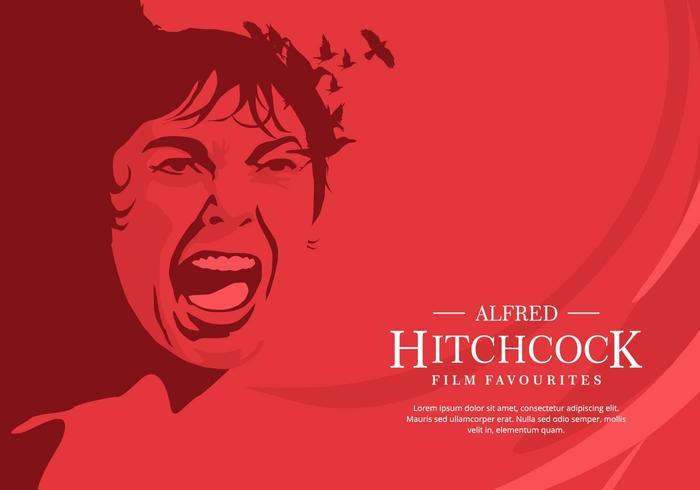 Röd Hitchcock bakgrund vektor