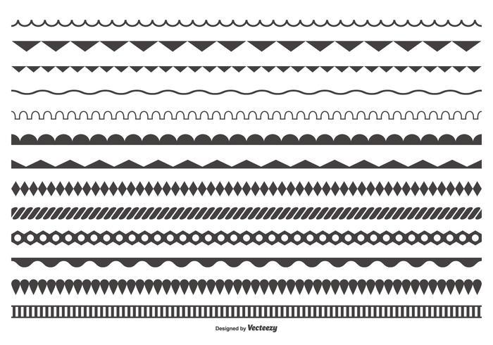 Dekorativa vektor Gräns Collection