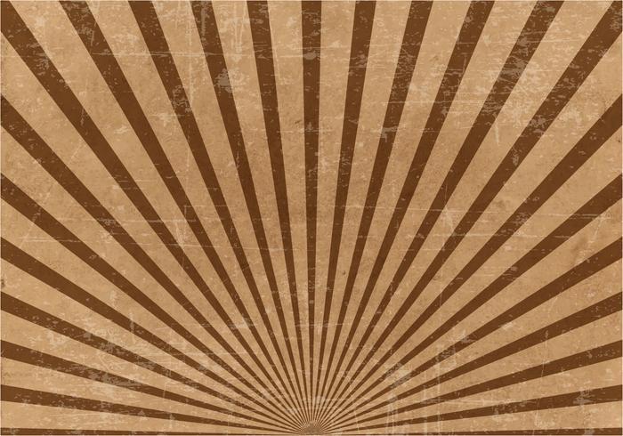 Brun Grunge sunburstbakgrund vektor