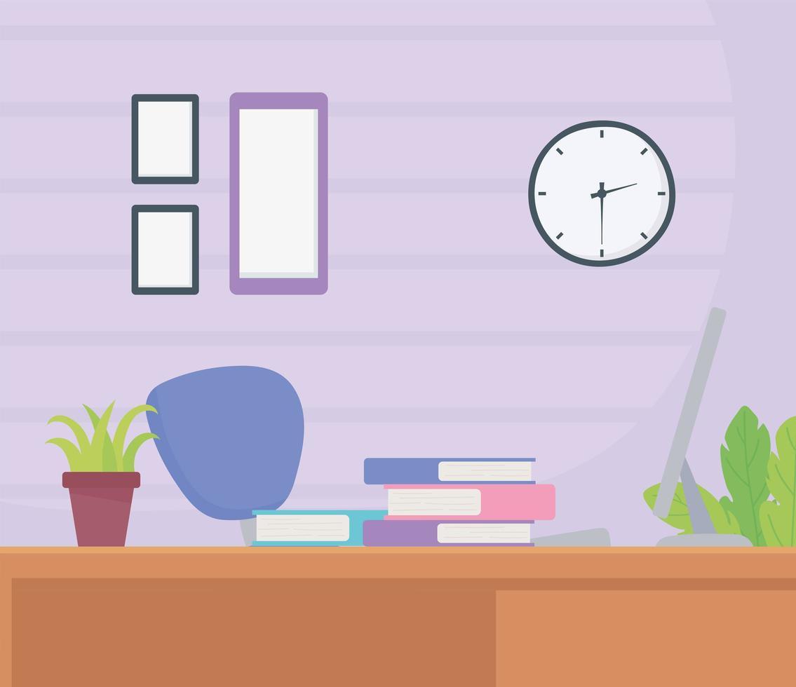 Büroarbeitsbereich Innenraum vektor