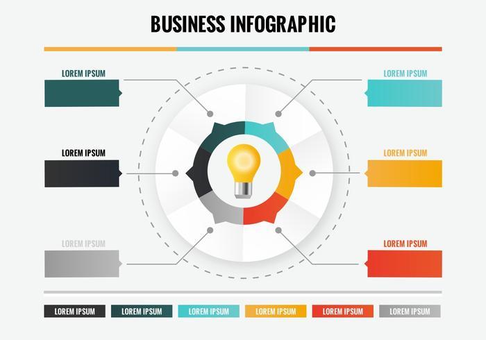 Kostenlose Infografik Vektor-Vorlage vektor