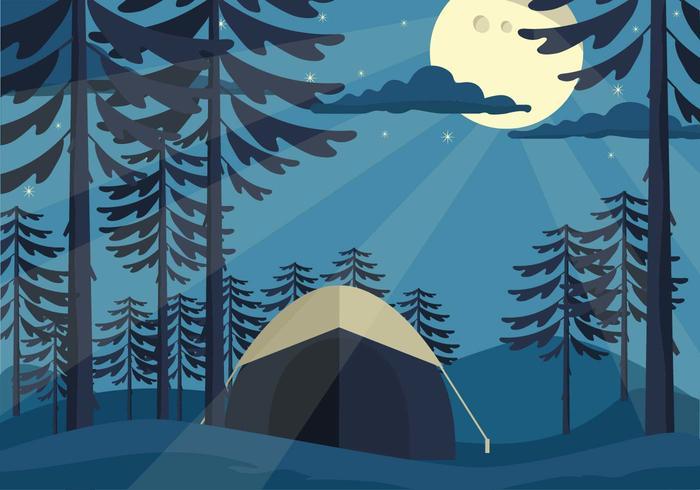 Freie Wald Vektor-Illustration vektor
