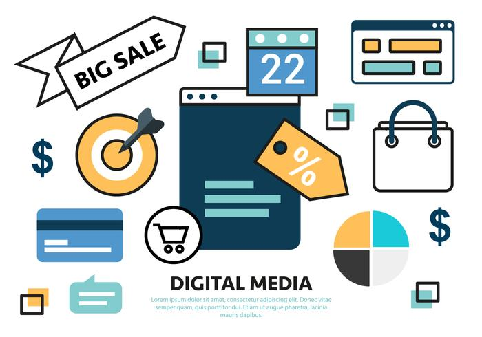 Gratis Flat Sale Marketing Concept vektor
