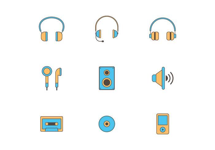 Set of Music Vector ikoner