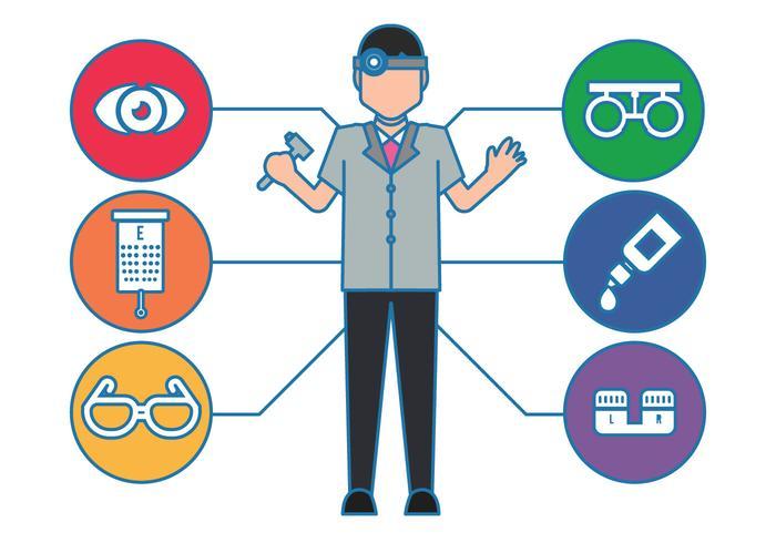 Ögonläkare vektor