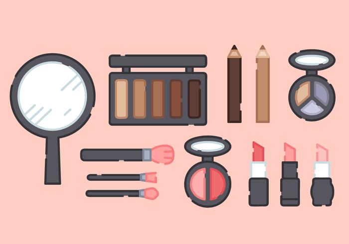 Söt makeup produkter vektor