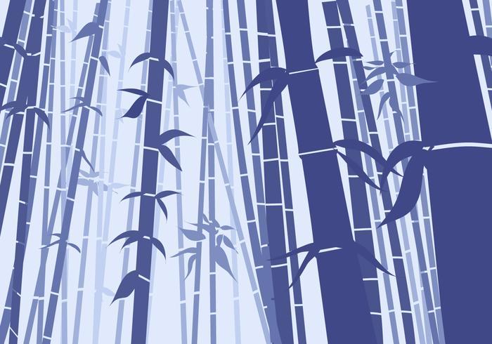 Bambu Scene Flat Style vektor