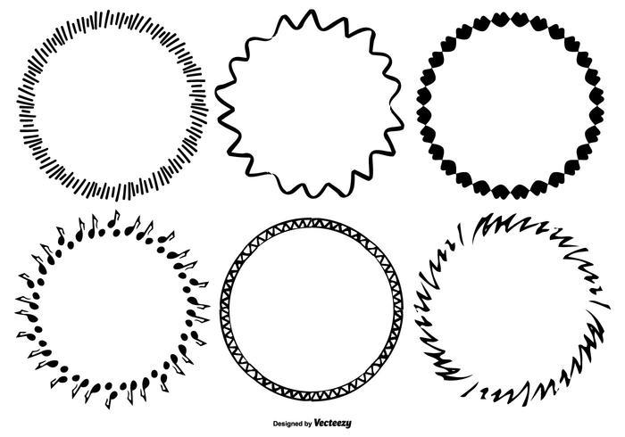 Funky Sketchy Frame Collection vektor