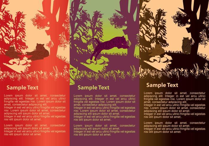 Tiger Silhouetten Banner vektor
